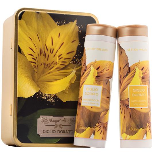 Set cadou - Nectaruri pretioase - Gel de dus si lapte de corp cu crin auriu