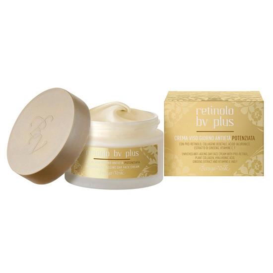 Crema anti-imbatranire de zi, cu pro-retinol, colagen vegetal, acid hialuronic, extract de Ginseng si vitaminele E, F