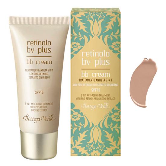 Retinolo Bv Plus - BB Cream, tratament anti-imbatranire 5 in 1, cu Pro-Retinol, extract de ginseng, SPF 15 - bej intens