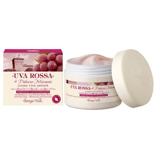 Struguri rosii - Crema de fata anti-aging cu extract din Struguri Rosii si zaharuri din Struguri - hidratant antioxidant  (50 ML)