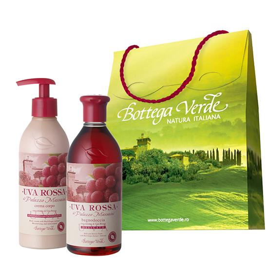 Pachet Special Dragobete - Gel de dus si crema de corp cu extract de struguri rosii