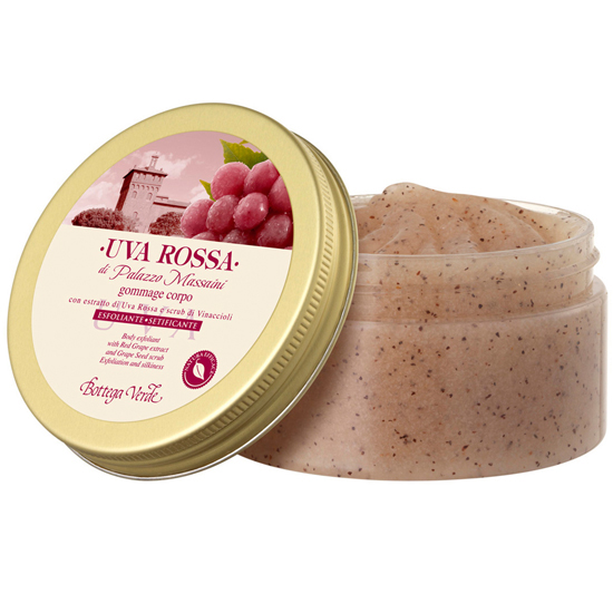Struguri rosii - Gomaj de corp cu extract de struguri rosii si scrub din seminte de struguri - exfoliant