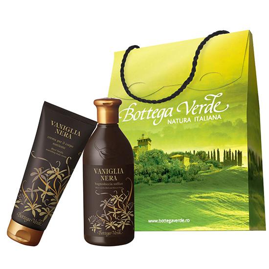 Set cadou - Gel de dus si crema de corp cu vanilie neagra  (400 ML + 200 ML)