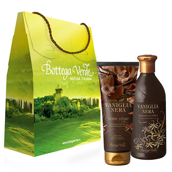 Set cadou - Gel de dus si crema de corp cu vanilie neagra mix 1