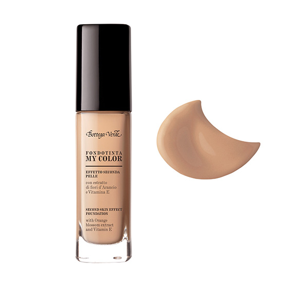 Fond de ten, efect de piele perfecta, cu extract de floare de portocal si Vitamina A, nude - My color, 30 ML