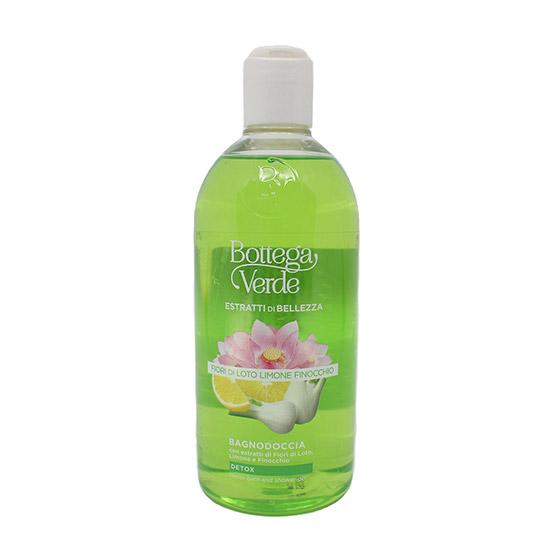 Gel de dus detox cu extract de flori de lotus, lamaie si fenicul - SOL Estratti, 400 ML
