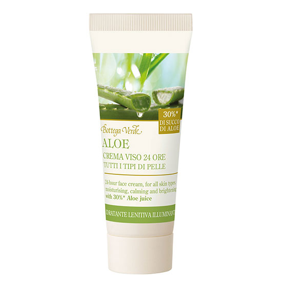 Travel size crema de fata, 24h, cu extract de aloe vera - Aloe, 20 ML