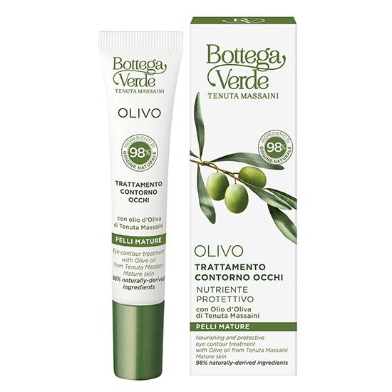 Tratament pentru zona din jurul ochilor, hidratant si nutritiv cu ulei de masline - Olivo, 15 ML