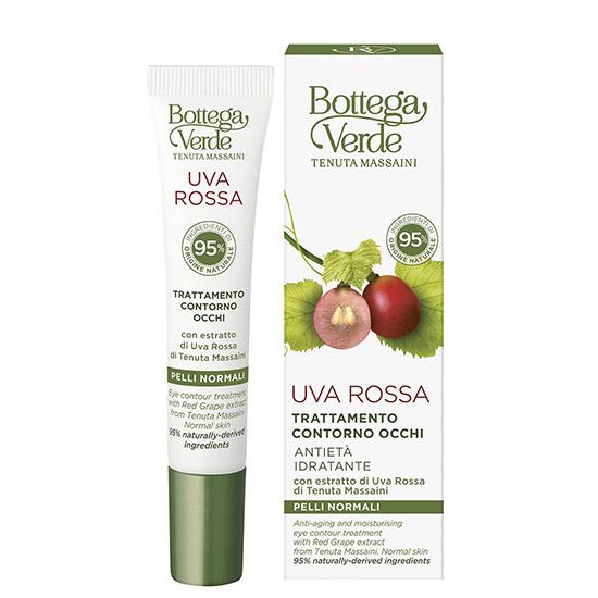Crema anti-imbatranire pentru zona din jurul ochilor cu extract de struguri rosii de la Palatul Massaini - Uva Rossa, 15 ML