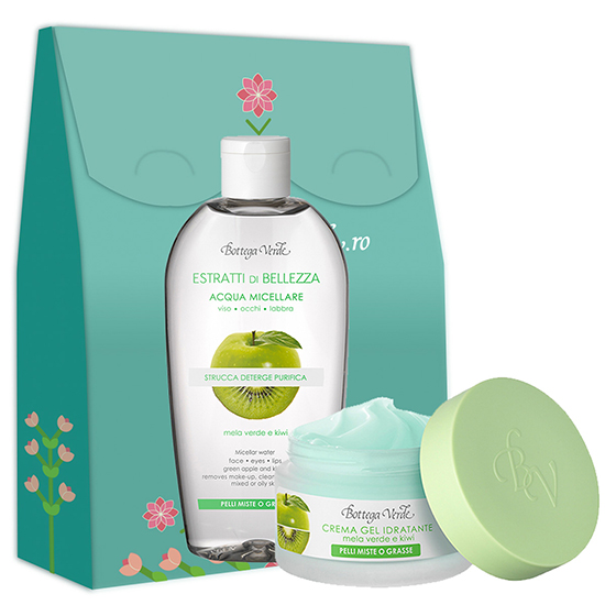 Set hidratare ten cu mar si kiwi - Estratti di Belleza, 50 ML + 200 ML