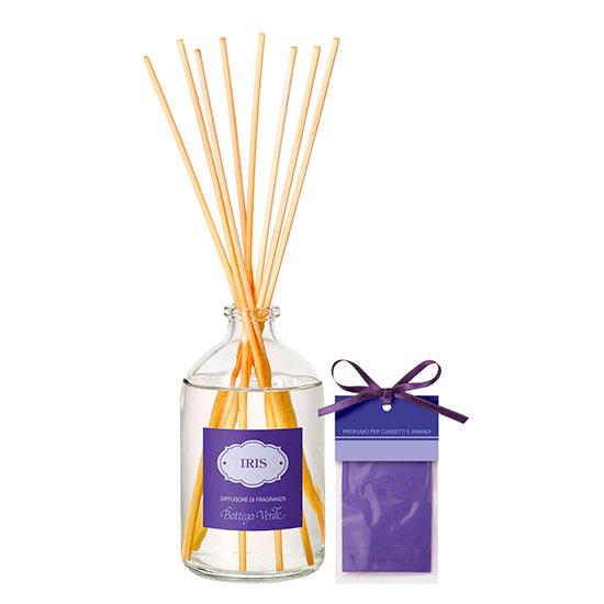 Set difuzor si parfum pentru sertare cu aroma de iris, 100 ML