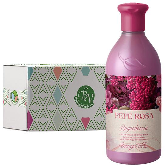 Gel de dus cu extract de piper roz in cutie cadou - Pepe Rosa, 400 ML
