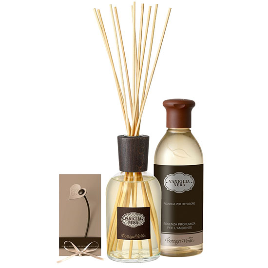 Set parfum cu aroma de vanilie neagra, 250 ML + 250 ML
