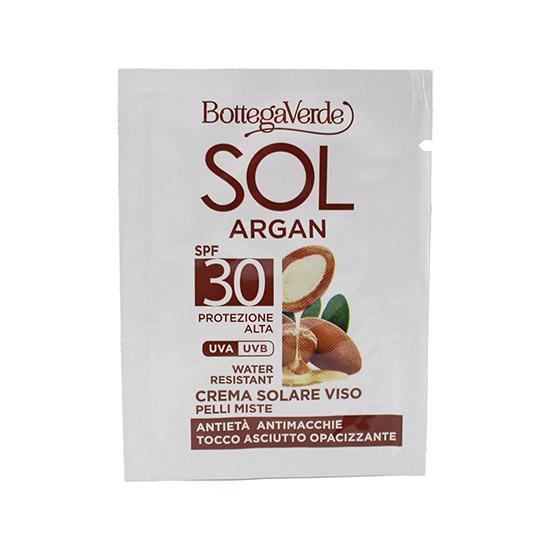 Mostra crema pentru fata, antirid, cu ulei de argan si vitamina E, SPF30 - SOL Argan, 4 ML
