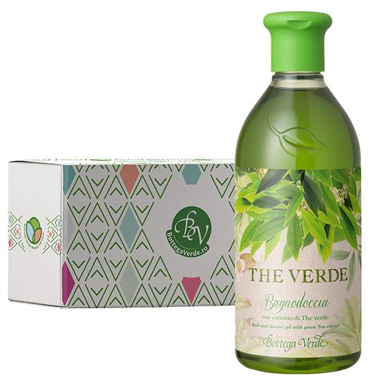 Gel de dus cu extract de ceai verde in cutie cadou - The Verde, 400 ML