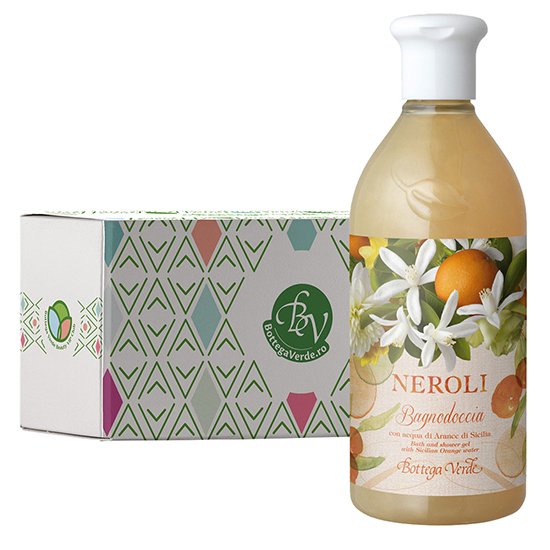 Gel de dus cu aroma de flori de portocal in cutie cadou - Neroli, 400 ML