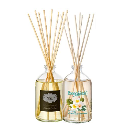 Set casa difuzoare parfum cu betisoare, 100 ML + 100 ML