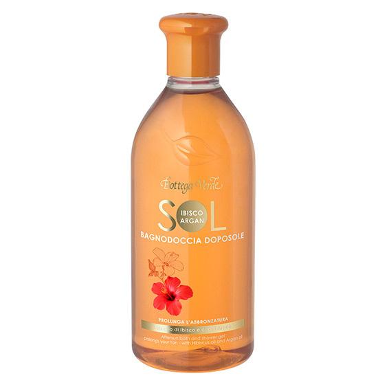 Gel de dus dupa expunerea la soare cu ulei de hibiscus si argan - Sol Ibisco e Argan, 400 ML
