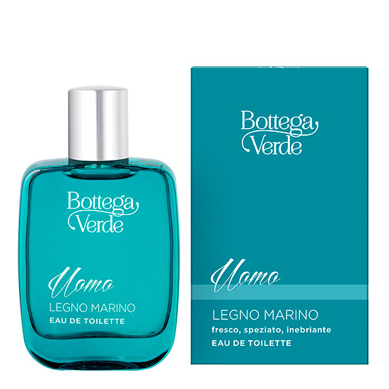 Apa de toaleta cu aroma lemnoasa - Legno Marino, 50 ML