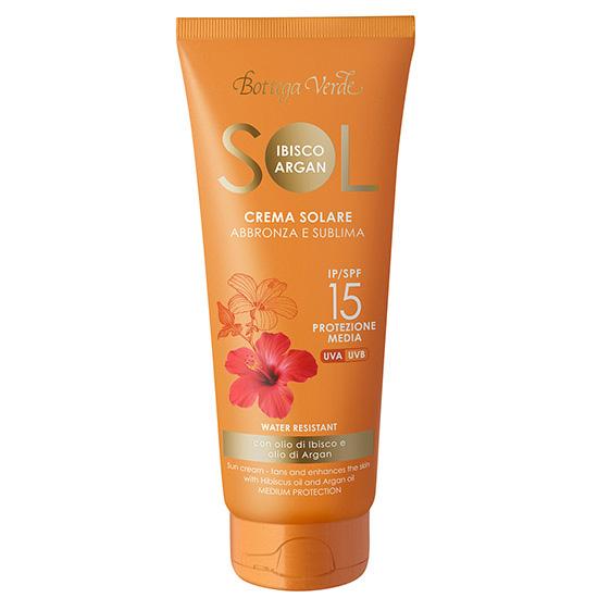 Crema protectie solara, rezistent la apa, cu ulei de Hibiscus si Argan  - Sol Ibisco Argan, 200 ML
