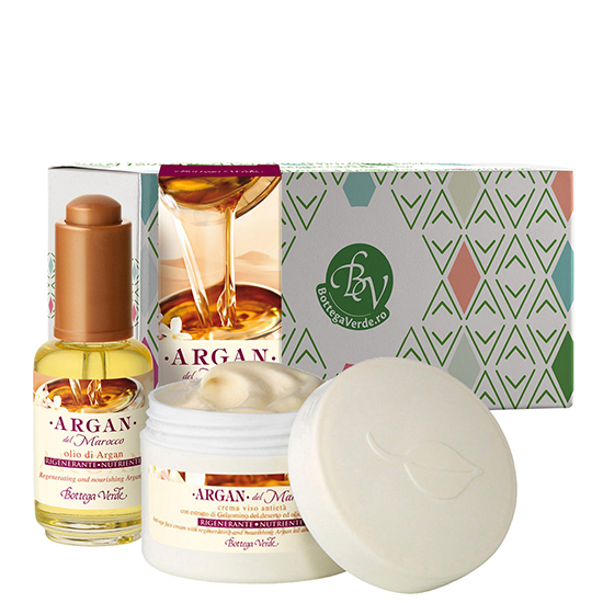 Set hidratare ten cu argan - Argan del Marocco, 50 ML + 30 ML