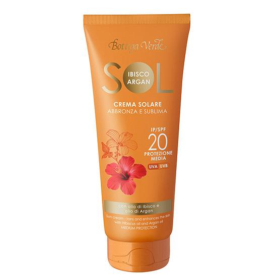 Crema pentru plaja rezistenta la apa, cu ulei de hibiscus si argan - Sol Ibisco e Argan, 200 ML