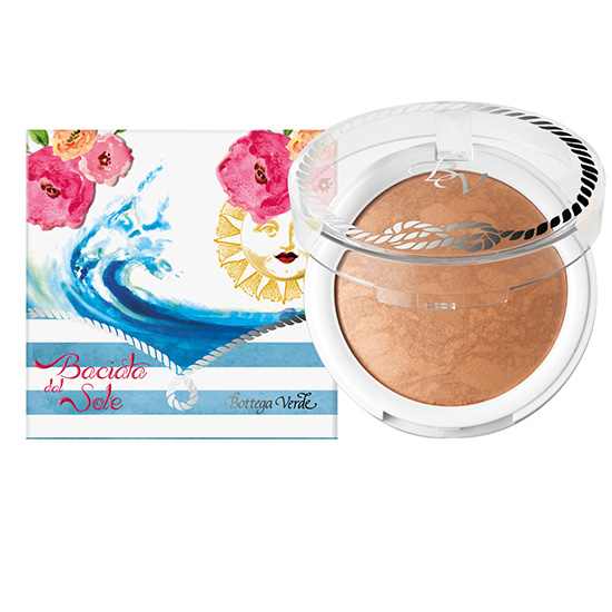 Pudra compacta bronzanta, cu extract de hibiscus si ulei de migdale dulci, bej  - Riviera Mediterranea  (7.5 G)