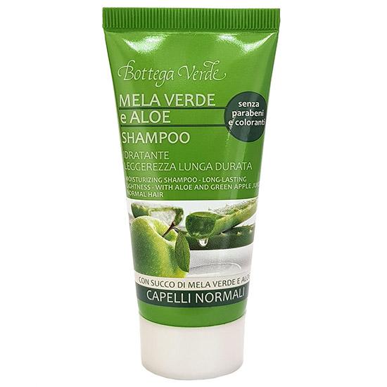 Mini sampon hidratant cu extract de aloe si mar verde, 50 ML