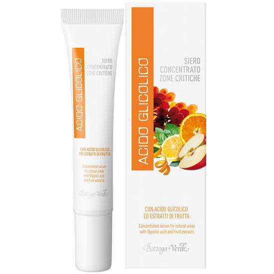Ser concentrat pentru zone critice, pentru toate tipurile de ten, cu acid glicolic si extract de fructe - Acido Glicolico, 15 ML