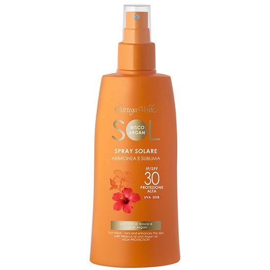 Spray protectie solara cu ulei de Hibiscus si cu ulei de Argan, SPF 30 - Sol Ibisco Argan, 200 ML