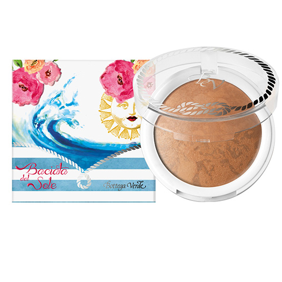 Pudra compacta bronzanta, cu extract de hibiscus si ulei de migdale dulci, bej inchis - Riviera Mediterranea  (7.5 G)