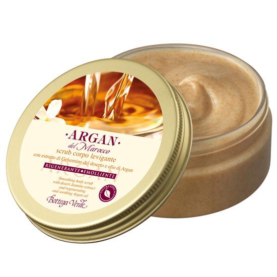 Scrub de corp cu extract de iasomie din desert si ulei de argan - Argan del Marocco, 150 ML