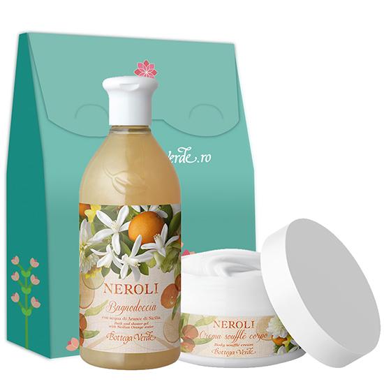 Set ingrijire corp cu aroma de flori de portocal - Neroli, 400 ML + 200 ML