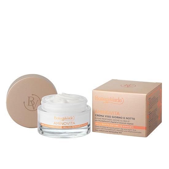 Crema de fata pentru zi si noapte imbogatita cu pluridifence®, peptide si ceramide vegetale - Aminovita, 50 ML
