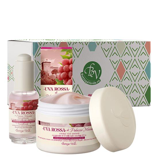 Set efect antioxidant cu struguri rosii - Uva Rossa, 50 ML + 30 ML
