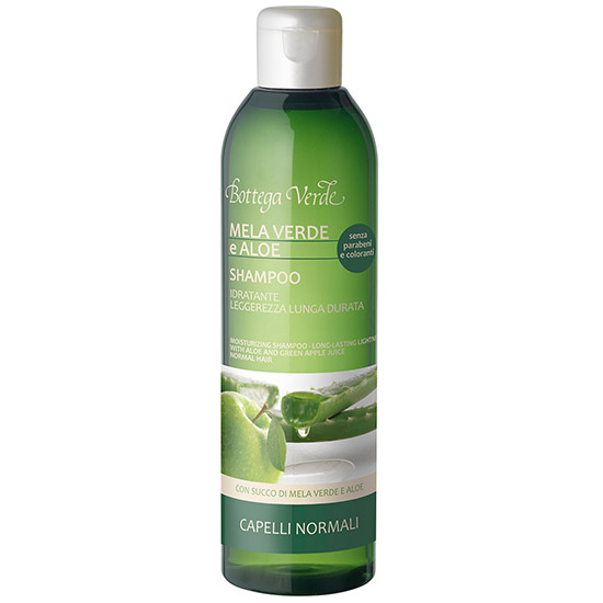 Sampon hidratant cu extract de aloe si mar verde, 250 ML