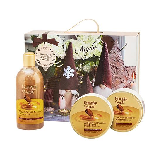 Set cadou femei, curatare delicata corp, cu extract de ulei de argan - Argan del Marocco, 150 ML, 200 ML, 400 ML