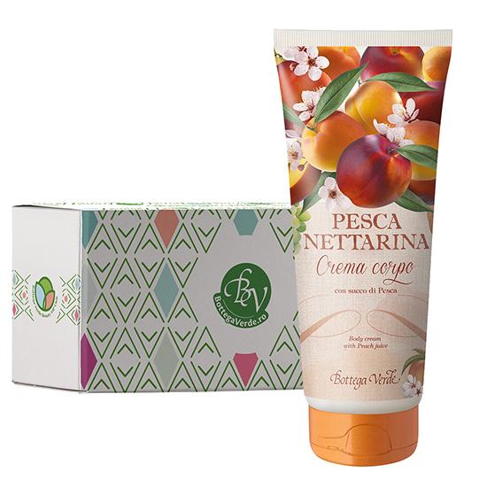 Crema de corp cu aroma de nectarine in cutie cadou - Pesca Nettarina, 200 ML