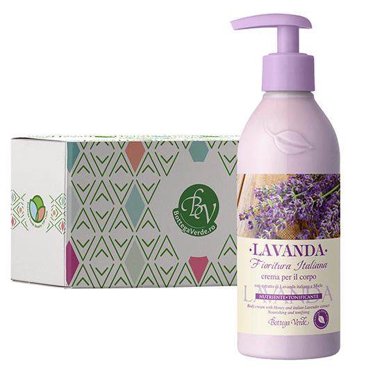 Crema de corp cu extract de lavanda italiana si miere in cutie cadou - Lavanda, 250 ML