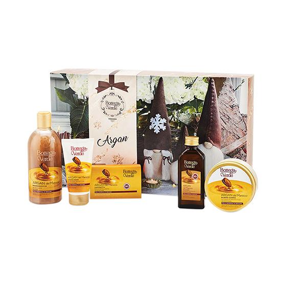 Set cadou festiv, ingrijire completa corp, cu extract de ulei de argan - Argan del Marocco, 100 ML, 150 G, 150 ML, 400 ML, 75 ML