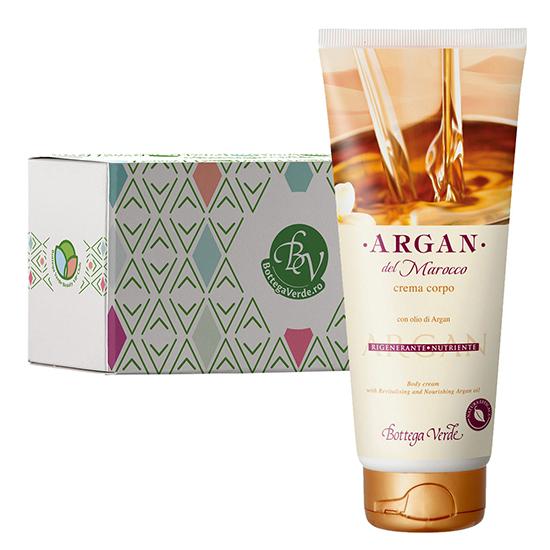 Crema de corp cu ulei de argan  in cutie cadou - Argan del Marocco, 200 ML