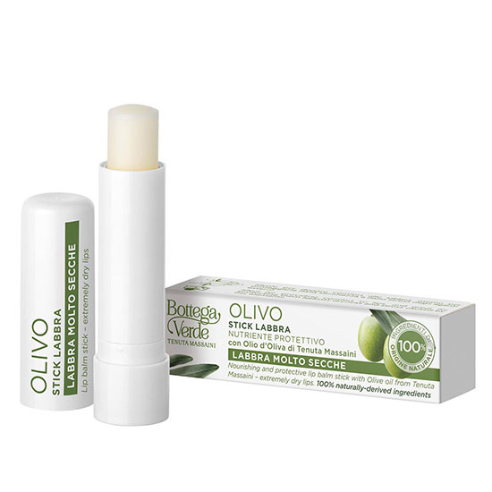 Balsam de buze, hidratant, cu ulei de masline de la Domeniul Massaini, incolor - Olivo, 5 ML