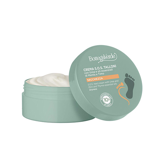 Crema pentru calcaie crapate cu 10% uree, uleiuri esentiale de menta si cimbru - Speciale Piedi, 50 ML