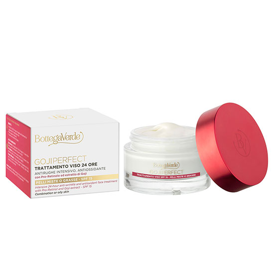 Tratament antirid 24H, pentru ten gras si mixt cu Pro-Retinol si extract de goji - Goji Perfect, 50 ML