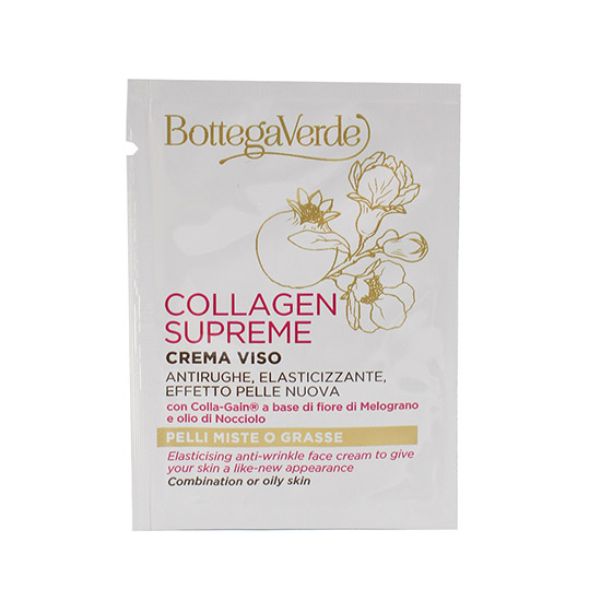 Mostra crema pentru fata, de zi, pentru ten mixt, cu ulei de hazel si flori de rodie - Collagen Supreme, 1.5 ML