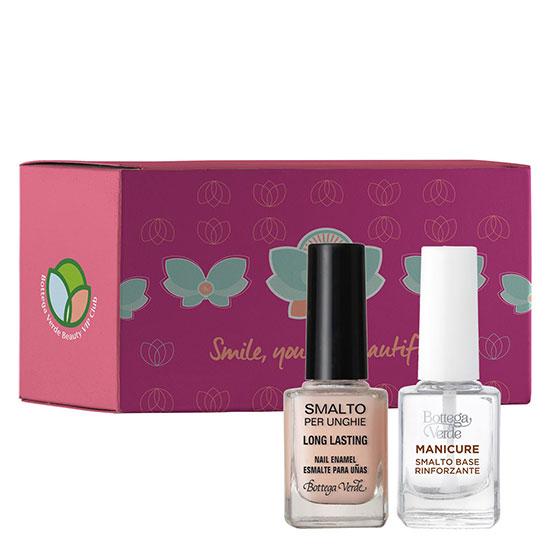 Set cosmetice cadou lacuri unghii natural, 10 ML + 10 ML