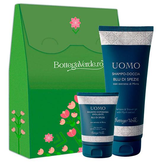 Set parfum deodorant si balsam dupa barbierit cu extract de smirna, 150 ML + 75 ML