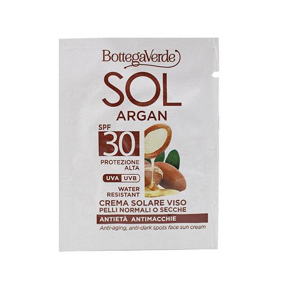 Mostra crema antirid, de zi, pentru ten normal si uscat, cu ulei de Argan si Vitamina E, SPF30 - SOL Argan, 1.5 ML