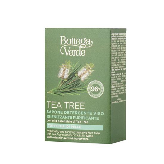 Sapun pentru fata cu efect de curatare si purificare, cu ulei de arbore de ceai - Tea Tree, 100 G