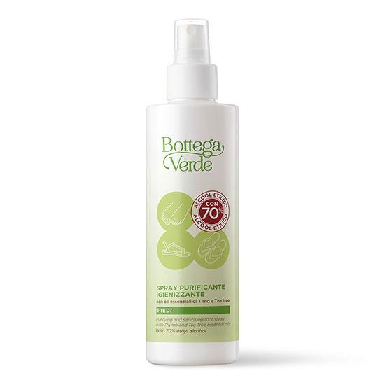 Spray pentru picioare, purificator, cu uleiuri esentiale de cimbru si arbore de ceai, 100 ML